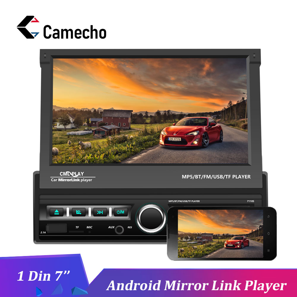 Camecho Car Radios One Din 7 inch Android Mirror Link HD MP5 Multimedia Player Bluetooth Audio