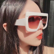 Oversized Square Sunglasses Shades for Women Brand Fashion F