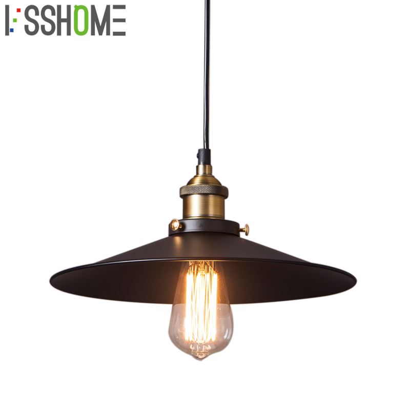 [VSSHOME] Restaurant Pendant Lights Retro Industrial Style Vintage American Country Dining Room Pendant Lamps E27 Base AC90-260V [ygfeel] village retro pendant lights american country style restaurant bar coffee shop lighting 3pcs e27 holder ac110v 220v