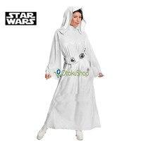 2016 Star Wars Costume Princess Leia Cosplay Costume Girls Clothes Female Halloween Dress With Belt Women