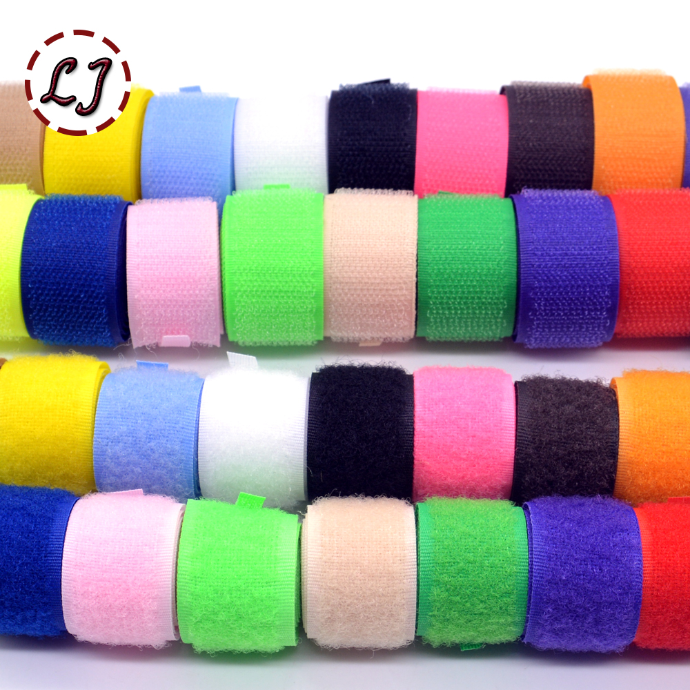 New hot sale brand 20mm 2yd/lot colorful HOOk&LOOP sew on Fastener Tape ribbon for home garment bag shoes accessories DIY