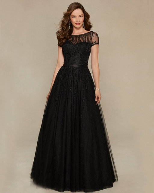 Style 71328 Tulle Elegant Gowns Black Mother of the Bride Dresses ...