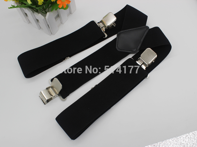 2019 Hot Sale 50MM 2 '' Unisex Mens Men Braces Vanlig färg Justerbar Suspenders stark 3clasp casual manliga suspenders
