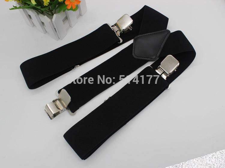 2019 Hot Sale 50MM 2'' Unisex Mens Men Braces Plain  Color Adjustable Suspenders Strong 3clasp Casual Male Suspenders