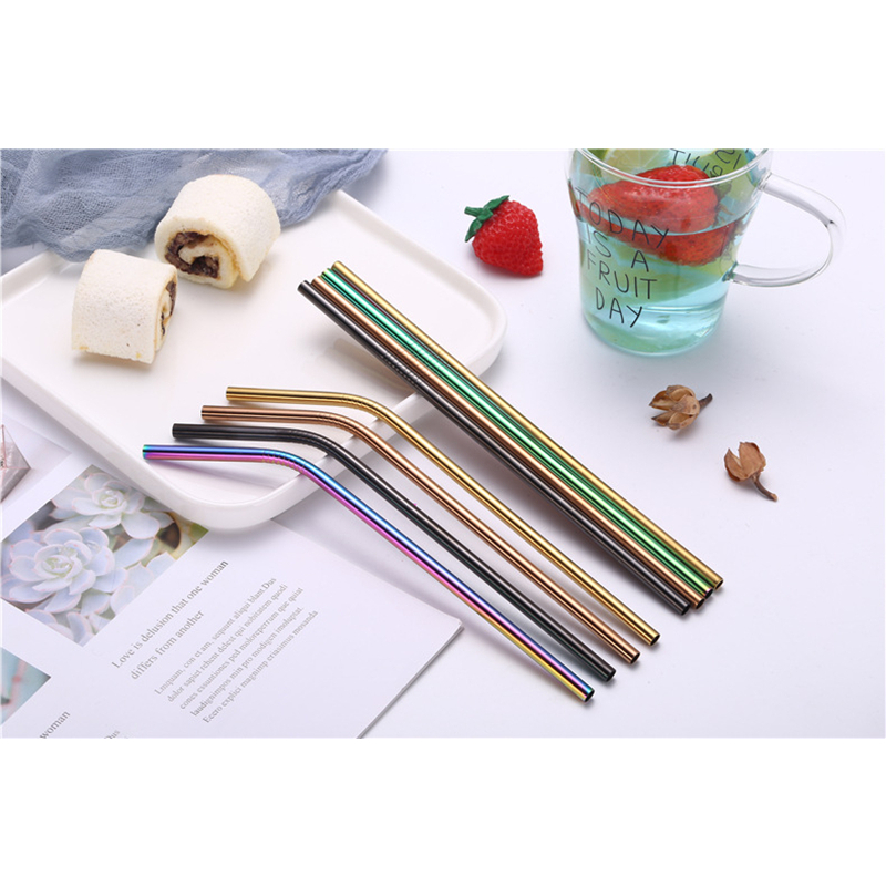 Metal Straw Set Reusable Straw 304 Stainless Steel Drinking Straw,  Brush Eco-Friendly Pink Straw For Mugs 20/30oz