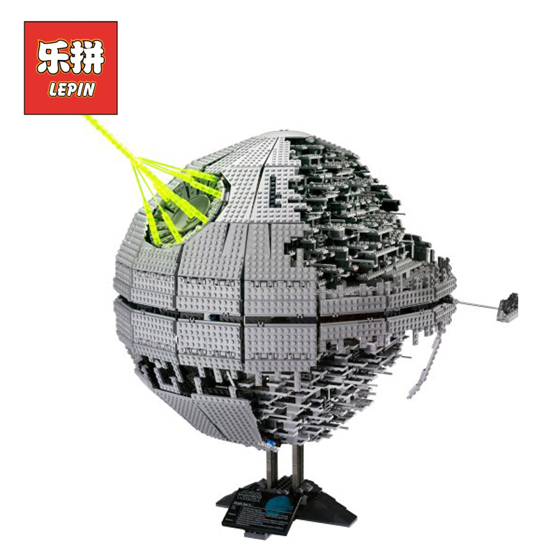 Lepin 05026 Building Blocks Bricks Stars Series War Death Star Set Model 10143 Children Toy Christmas Birthday Christmas Gift 05026 star 3449pcs wars death toy star ii model building blocks kits bricks children diy kid toys gift lepin compatible 10143