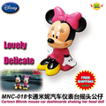 Car Accessories Minnie mouse cartoon car dashboard decoration shaking his head doll  MNC-018 freeshipping