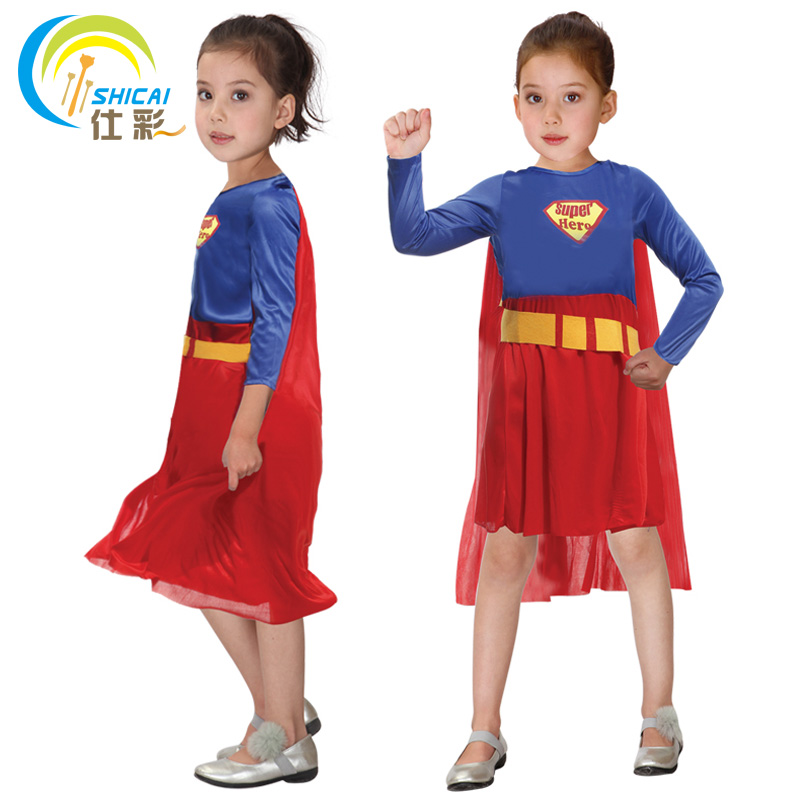 Superman Superwoman for Little Girl Costume Superhero Cosplay Party Activities Halloween Christmas Carnival Dress Up-in Party DIY Decorations from Home ...  sc 1 st  AliExpress.com & Superman Superwoman for Little Girl Costume Superhero Cosplay Party ...