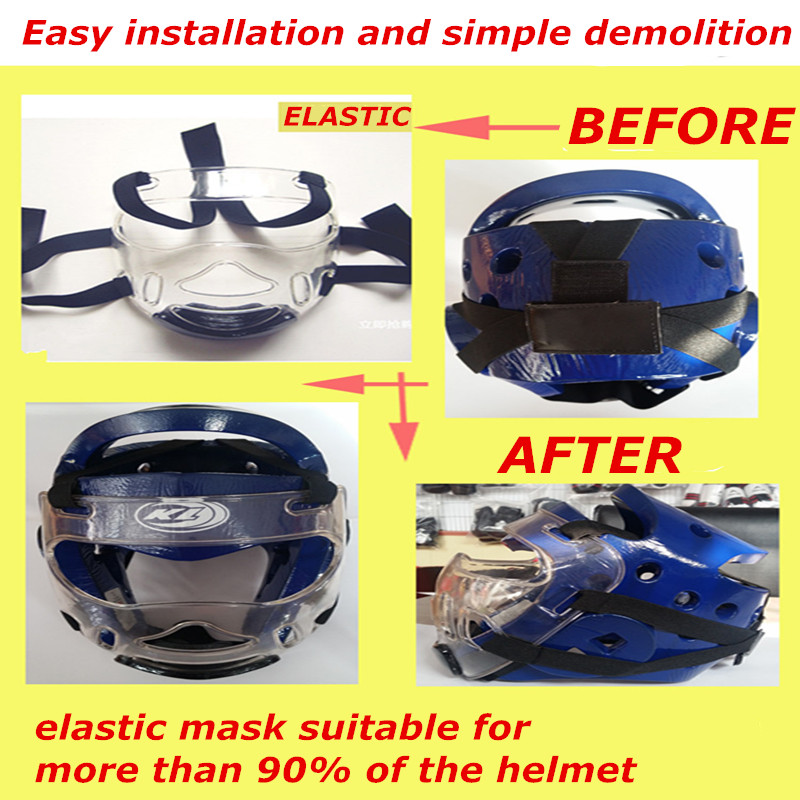 taekwondo karate face mask protector environmental material kids adult fitness sport headgear Removable helmet mask