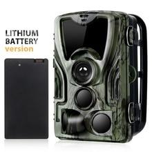 Suntekcam HC-801A охоты Камера с 5000 Mah литиевая Батарея 16MP 64 GB Trail Камера IP65 фото ловушки 0,3 s 850nm дикий Камера
