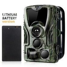 Suntekcam HC 801A polowanie aparat z 5000 Mah bateria litowa 16MP 64 GB aparat szlak IP65 zdjęcie pułapki 0.3 s 850nm dzikie kamery