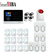 SmartYIBA Russian/Italian/Spanish 3G SMS Autodial Home Alarm System Flash Siren 433Mhz Sensors Alarm For Security Alarmes Kits