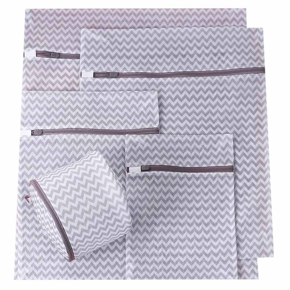 5 Pcs Clothes Washing Machine Laundry Bra Aid Lingerie Mesh Net Wash Bag Pouch Basket