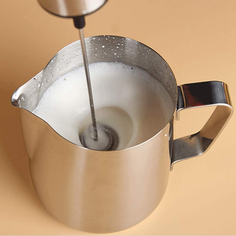 USB Chargeable Electric Milk Frother with Double/Single Spring Whisk Head for Milk and Coffee 3