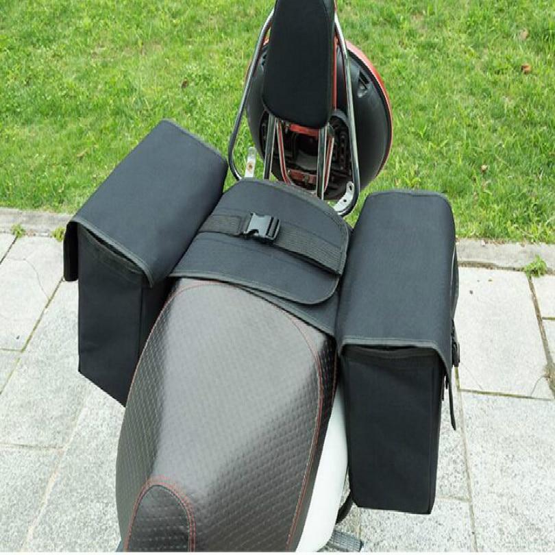waterproof motorcycle luggage bags saddle bag motorcycle saddle bags black free shipping in Leather Saddle Bags from Automobiles Motorcycles