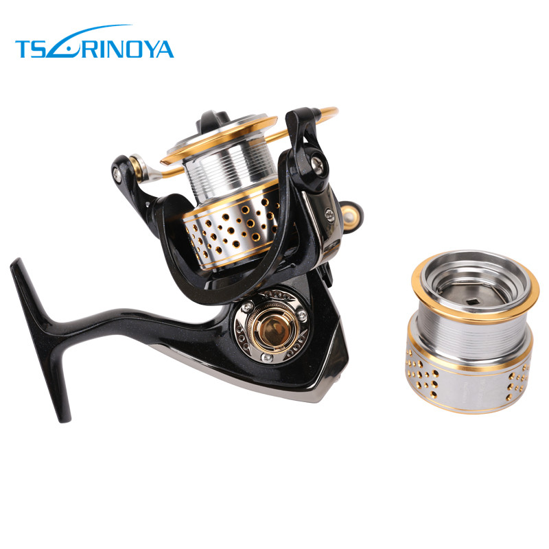 Tsurinoya 2016 New F2000 9BB 5.2:1 2 Spools Spinning Fishing Reel Lure Reels Rock Reel Full Metal Wheels Pesca Fishing Tackles tsurinoya fs3000 fishing spinning reel 9 1bb 5 2 1 metal spools fishing lure reels max drag 7kg carretilha de pesca direita