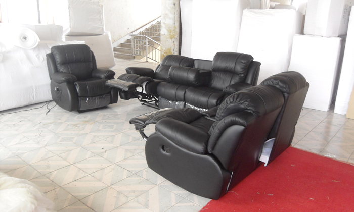 Aliexpress.com  Buy Free Shipping Modern Design luxury 1+2+3 modern reclining sofas Chair love seat Set Genuine leather recliner sofa LF001 from Reliable ... & Aliexpress.com : Buy Free Shipping Modern Design luxury 1+2+3 ... islam-shia.org