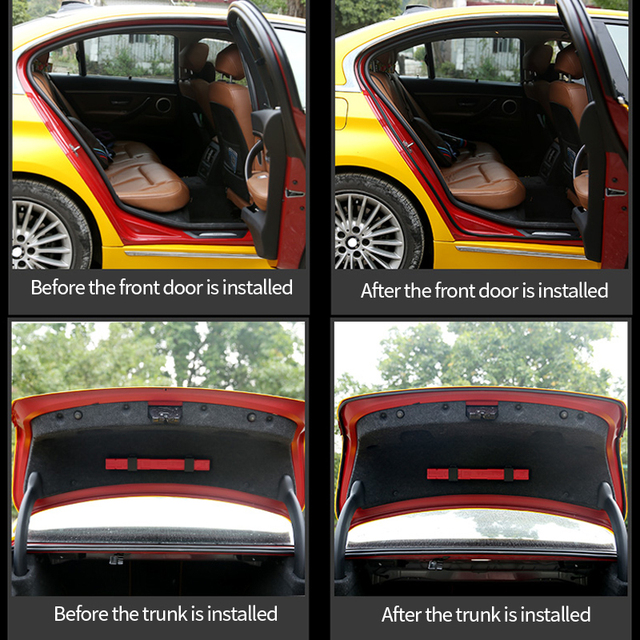 Car Door Seal Strip Auto Rubber Seals Strips Noise Insulation Soundproofing Weatherstrip Car Door Protector Trunk Edge Stickers