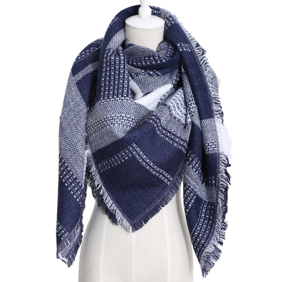 2018 Marque De Luxe Nouveau Design Femmes Épais Cachemire Géométrique  Écharpe Surdimensionné Couverture Foulards Triangle Dames 0eaaeac7226