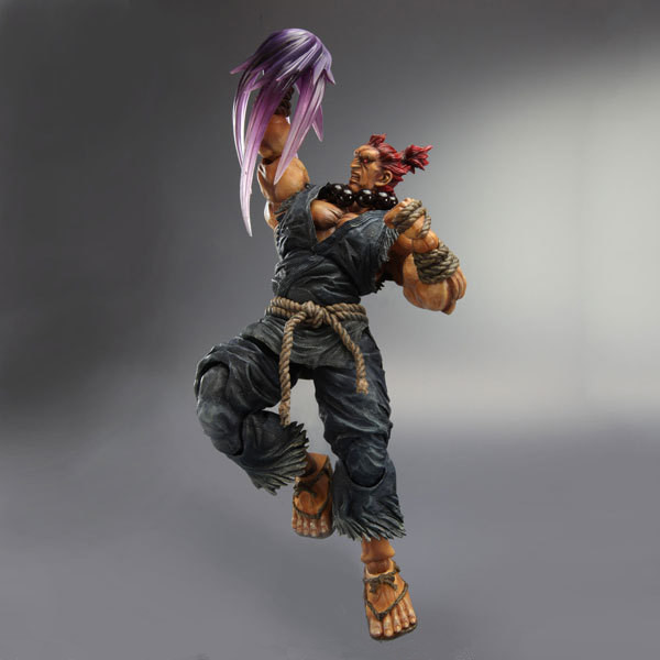 PLAY ARTS Square Enix 1/6 Super Street Fighter 4 Gouki ( white clothes) garage kit action figure new box super street fighter iv akuma gouki white variant play arts kai action figure