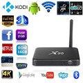2 GB/16 GB X98 Quad Core Elegante del Androide 5.1 TV Box 4 K UHD 1000 M LAN Bluetooth 4.1 de Doble Banda de 2.4 GHz/5 GHz WiFi Kodi 16.0 Los Medios de Comunicación jugador