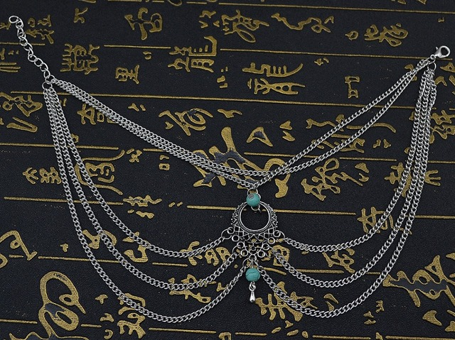 Native Turquoise Anklet Bracelet For Wild Body