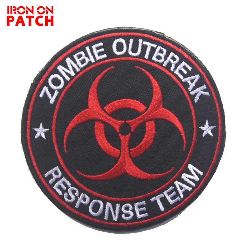 Вышивка патч вспышка зомби ответ командные нашивки личности тактический военный значок для одежды эмблемы Biohazard патч
