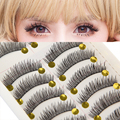 VANDER 10 Pairs Natural Thick Handmade False Eyelashes Soft Long Eye Lash Cosmetic For Beauty Makeup Extension Lashes