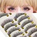 VANDER 10 Pares Natural Hecho A Mano Grueso Pestañas Falsas Suavemente Largas pestañas de Extensión de Pestañas Cosméticos De Maquillaje de Belleza