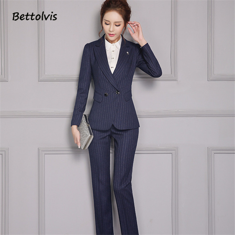 Vêtements Blazer Mince Pantalons Bande Automne Femmes Set Réglé Set Set Blue Femelle Pantalon Skirt Costumes 2019 blue Pants Printemps Bettolvis Pour Travail black Bureau Formelle De nxZwq8OPE0