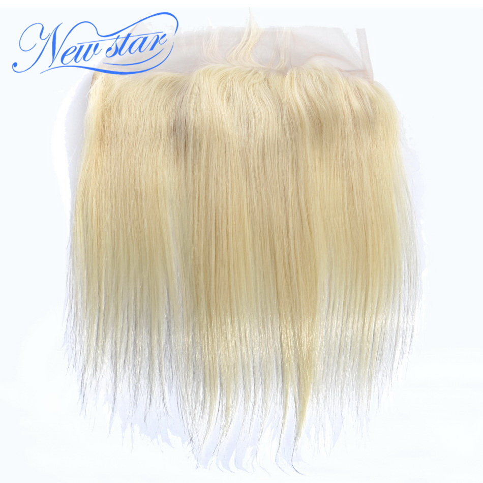 Closures Brazilian Star-Hair Lace-Frontal Straight Blonde Free-Part 100%Human-Hair New