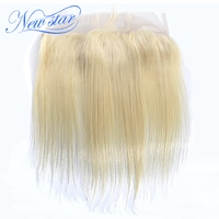 New Star Hair Blonde 13''x4'' Lace Frontal Closures Brazilian Remy Hair 613 Straight 100% Human Hair Ear To Ear Free Part