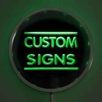 Cercle Personnalisé LED Enseignes Au Néon 25 cm/10 Pouce-Conception votre Propre Rond LED Signes Avec RGB Multi-Couleur À Distance Sans Fil contrôle