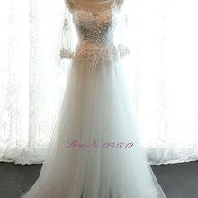 JULIA KUI Three Quarter A-line Wedding Dresses