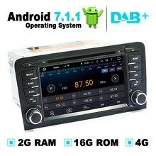 2G RAM Android 7.1.1 Sistema de navegación GPS para coche reproductor de DVD de Auto Radio Audio Video estéreo medios para Audi A3 soporte DVB-T ATSC TV
