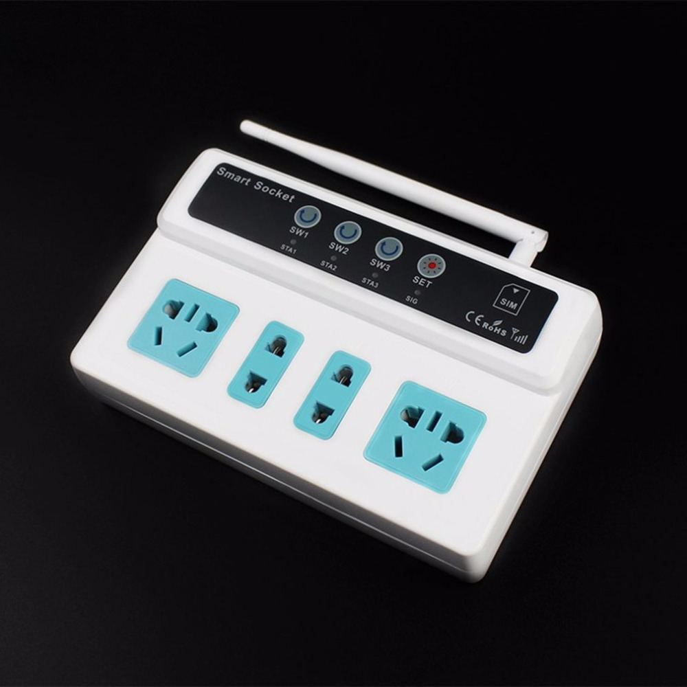 Hot Promotion 3 Sockets Mobile Phone GSM SIM Remote Control Wireless Smart Socket Switch Hot New Arrival