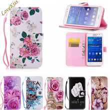 Pattern Leather Phone Case For Samsung Galaxy Grand Prime G530 G531 G530H Capa Flip Shell Stand Book Wallet Soft TPU Back Cover