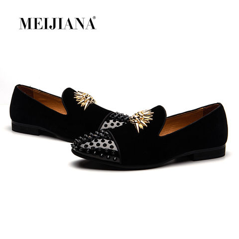 fe634b72e83158 MEIJIANA Brand Mens Loafers Genuine Leather Comfortable Luxury Men Party  Shoes High-end Handmade Loafers ...