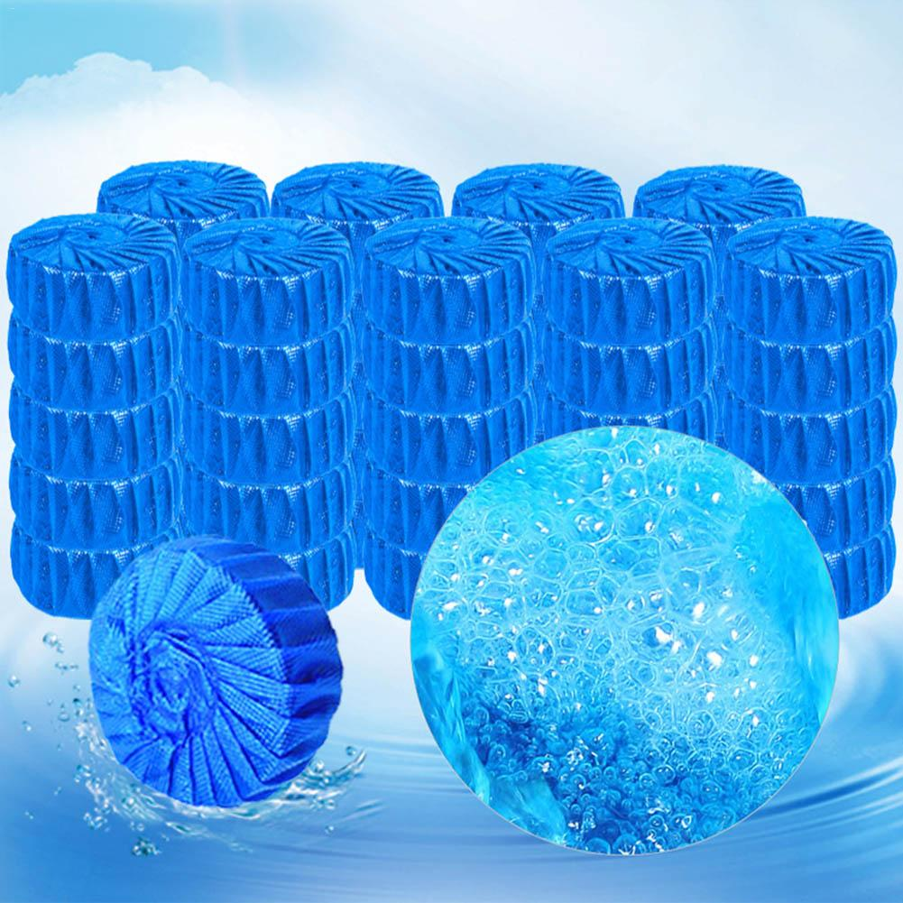 10PCS Blue Toilet Dirt-removal Cleaner Detergent Bubble Cean Toilet Deodorant Toilet Cleaner Bathroom Cleaner