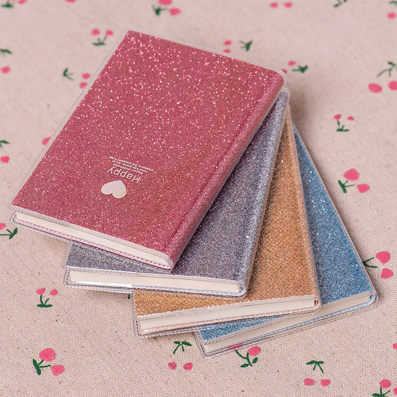 5PC Korean Stationery Cute PVC Notebook Paper Diary Office&school Supplies Shiny Cool Kawaii Notebook Paper Planner Gift Notepad