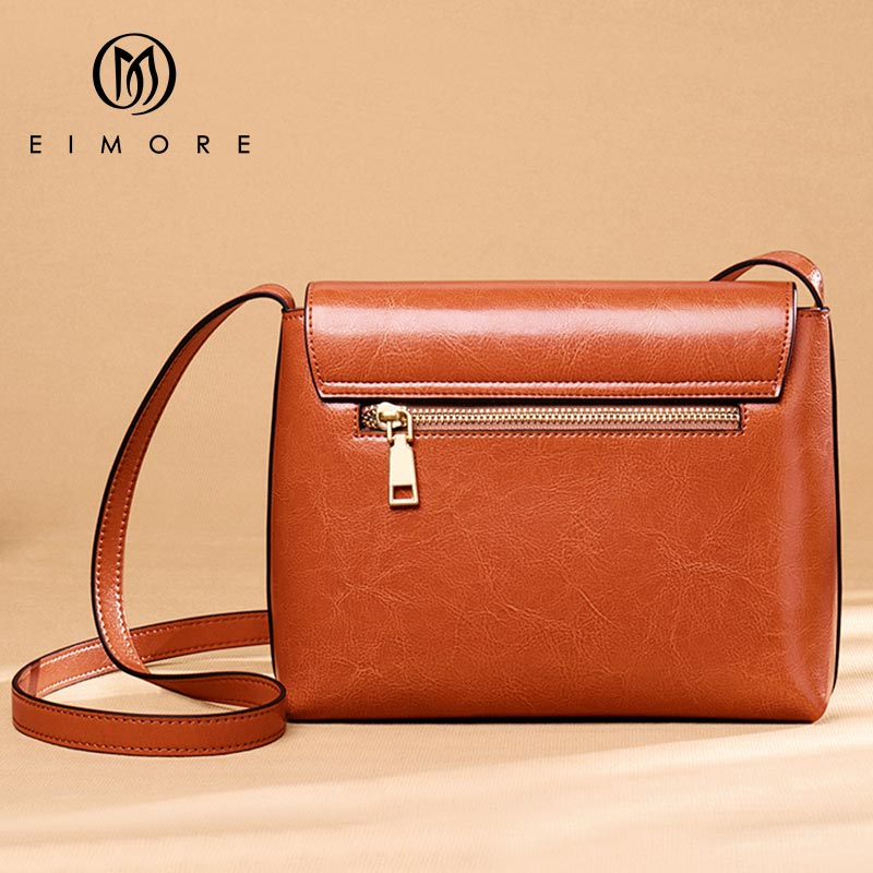 Image 5 - EIMORE Crossbody Bag Women's New 2019 Woman Bag Spring Fashion Square Bag Female Simple Wild Leather Shoulder Messenger Bag-in Top-Handle Bags from Luggage & Bags
