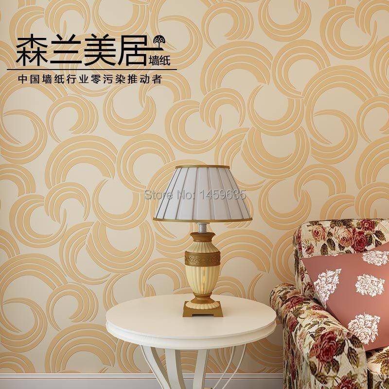 ФОТО Modern minimalist geometric circle pattern wallpaper bedroom living room TV backdrop dimensional non-woven wallpaper