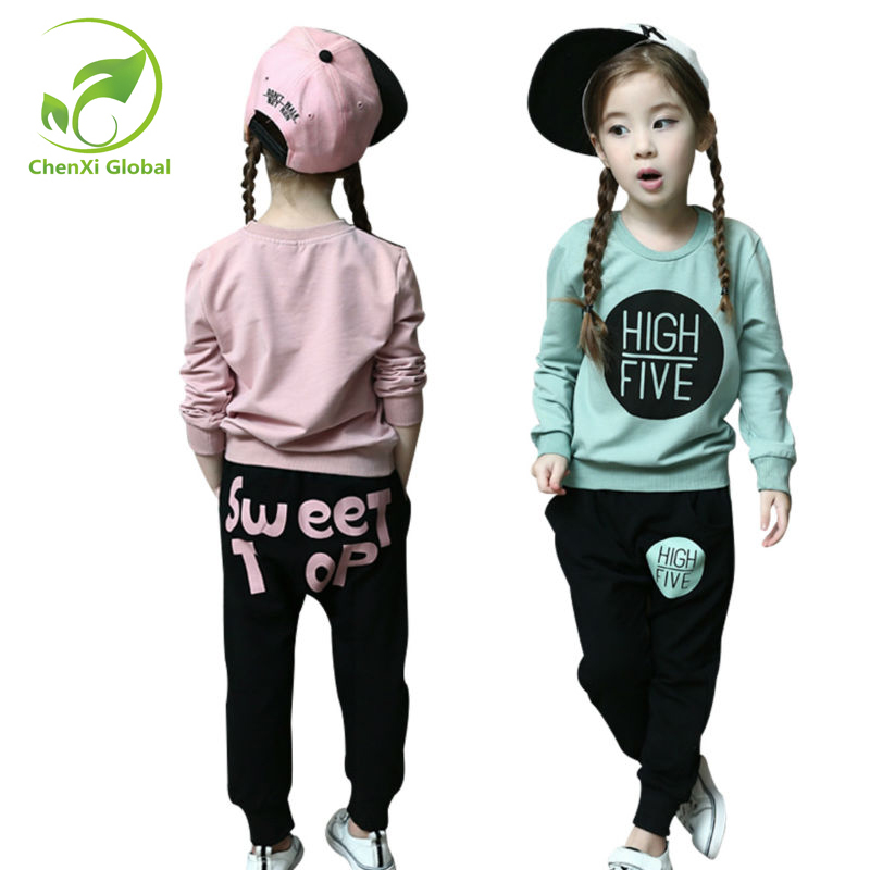 Spring Kids Clothes Long Sleeve Pullover Sports Suit Casual Boys Girl Clothing Set Children Clothing&Accessories School Uniform kids boys long sleeve pullover shirt jeans denim trousers 2016 spring kids clothes casual boys clothing set