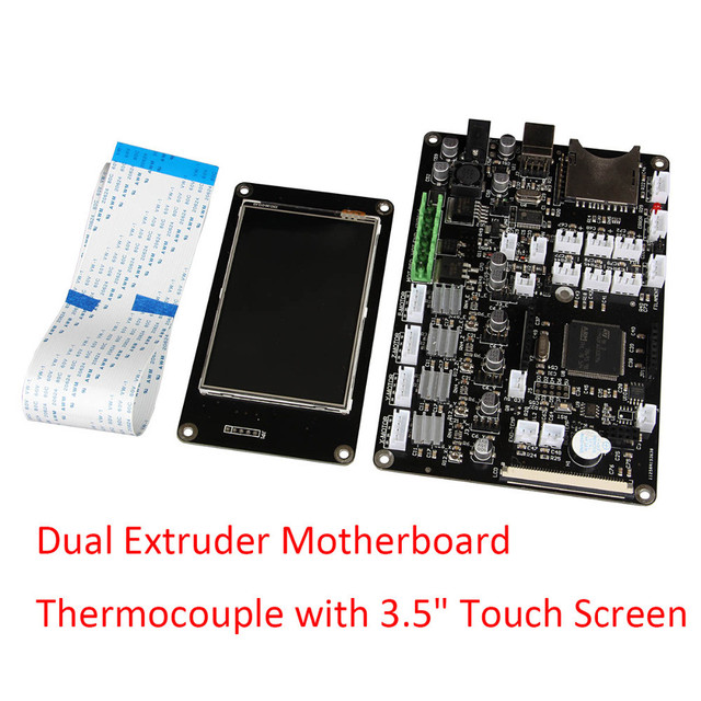 "3D Printer Mainboard Chitu V3.6 Dual Extruder Motherboard Thermocouple with 3.5"" Touch Screen Support WiFi APP Control"