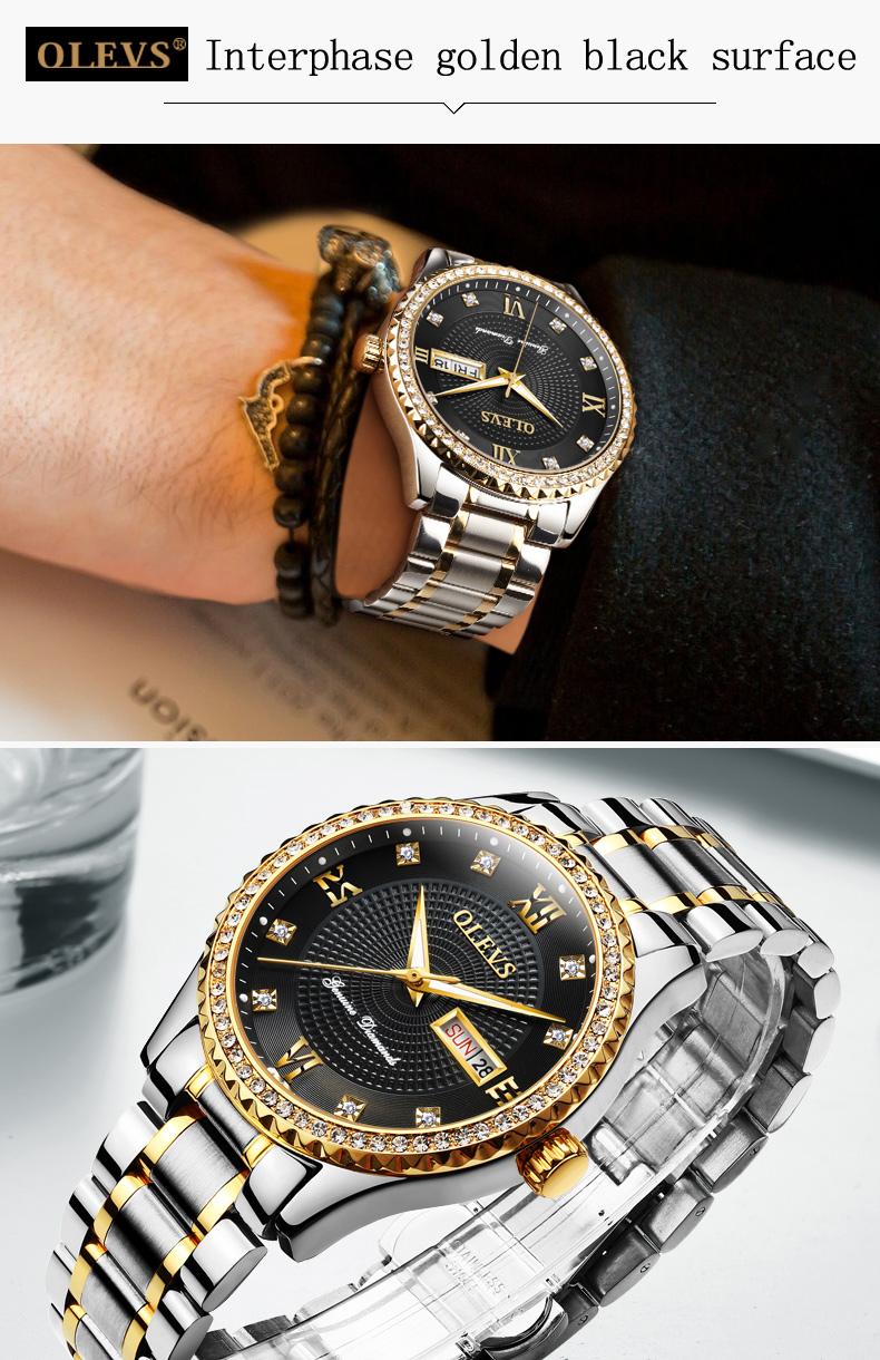 2018 OLEVS Luxury Brand Watch Men's Analog Quartz Auto Date Watches Man Waterproof Clock Men Sport Stainless Steel Wrist Watch 18
