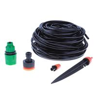 Automatic 25M Drip Irrigation System Plant Watering Garden Hose Kits With Adjustable Dripper Controller Suits