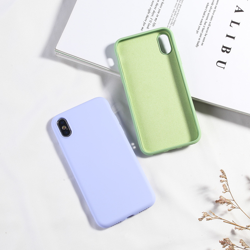 Image 2 - NEW Simple Candy Color Phone Case For iPhone X XS MAX XR 7 8 Plus Soft TPU Silicone Back Covers For iPhone 6 6s Plus Fundas Capa-in Fitted Cases from Cellphones & Telecommunications