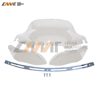 Slotted Stock Batwing Trim 8 Clear Windshield Side Air Wing 4 Case For Harley Electra Street
