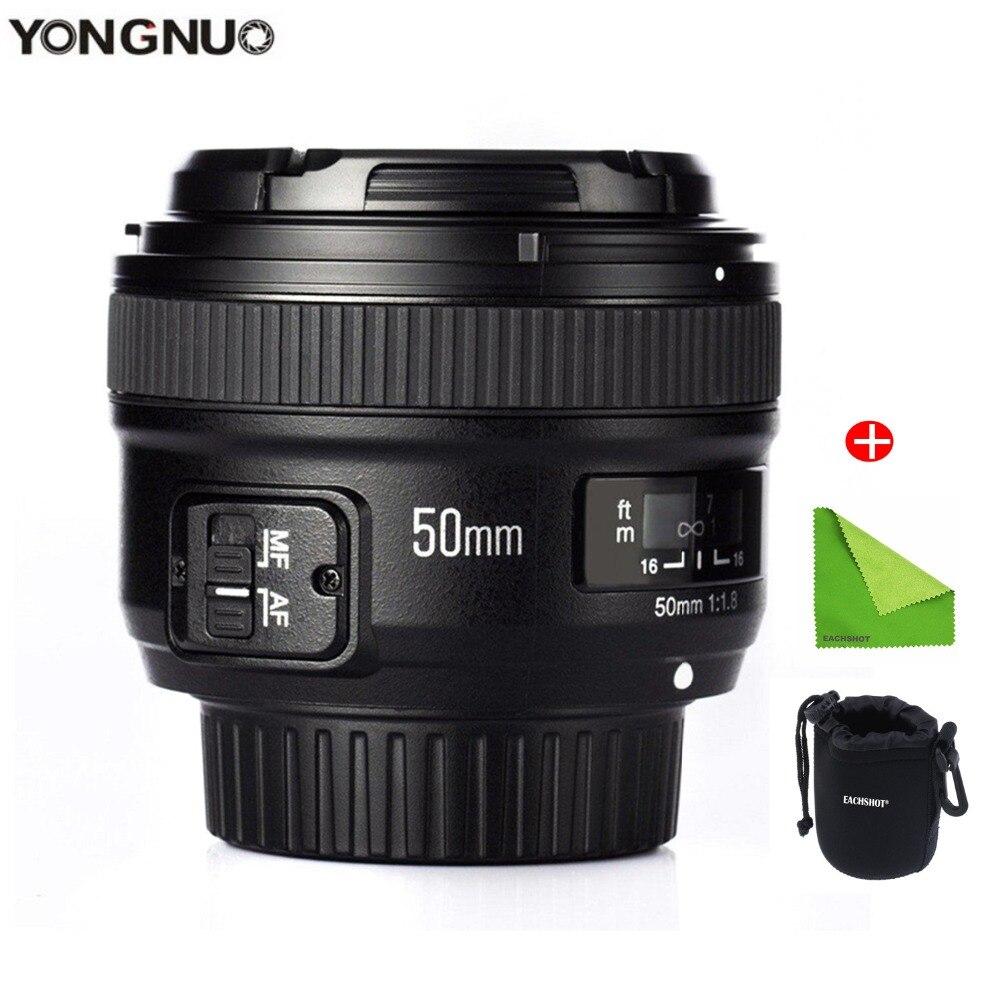 YONGNUO 50mm Lentille YN50mm F1.8 Grande Ouverture Auto Focus Lens pour Nikon D5300 D3400 D3200 D3100 D7200 D800 D300 d700 DSLR Caméra