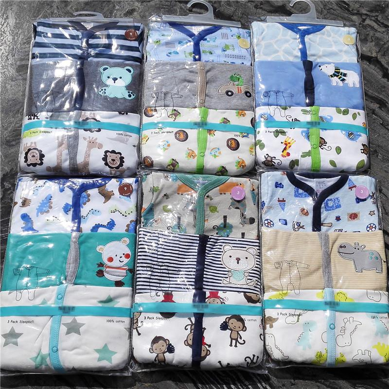 Retail-3pcspack-0-12months-long-Sleeved-Baby-Infant-cartoon-footies-bodysuits-for-boys-girls-jumpsuits-Clothing-newborn-clothes-4
